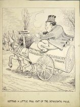 Image of Getting a little pull out of the Democratic mule - Bartholomew, Charles Lewis, 1869-1949